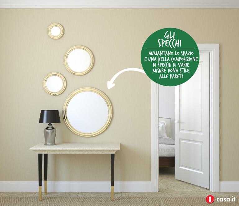 specchi alle pareti