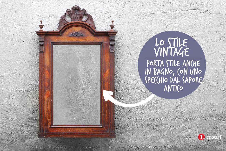 specchio vintage per il bagno