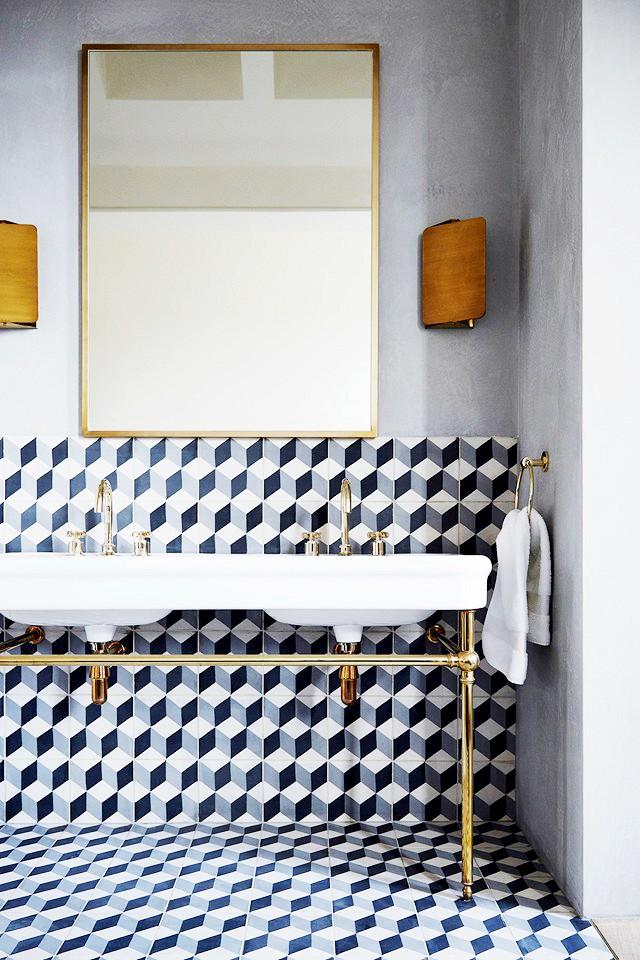 geometrie in bagno