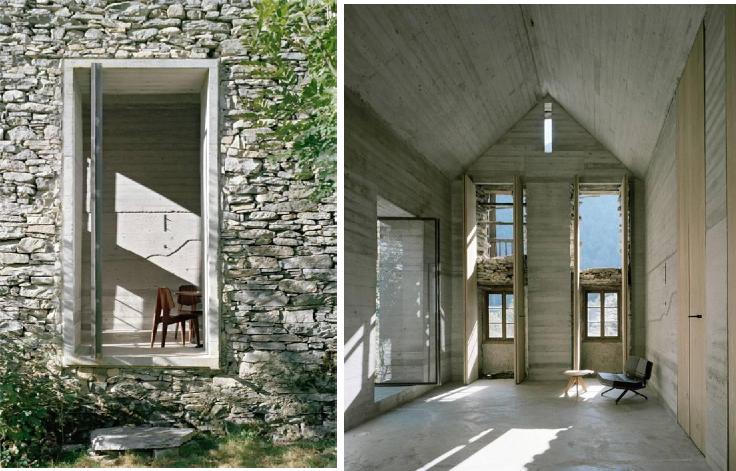 Da rudere a moderna casa di montagna for Casa moderna ristrutturata
