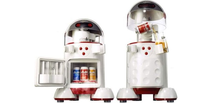 robot che serve birra