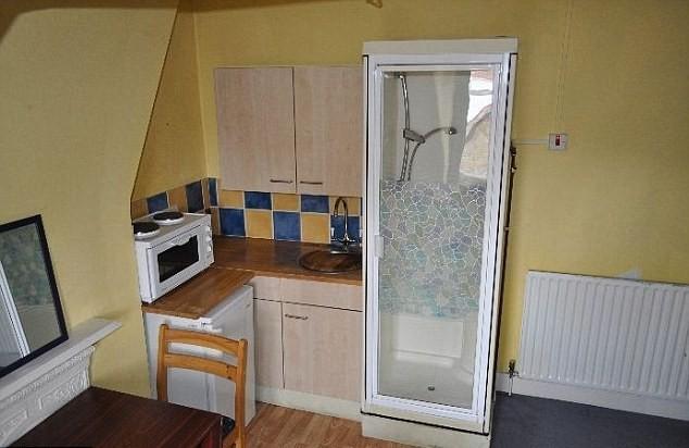 londra doccia in cucina