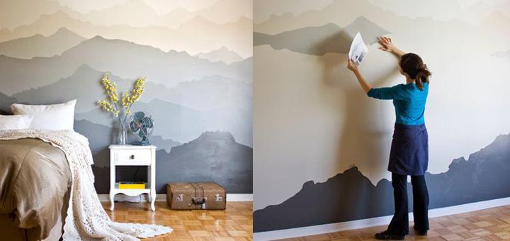 Parete decorata 6 idee irresistibili for Decorare muro stanza