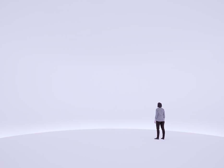 stanza vuota bianca