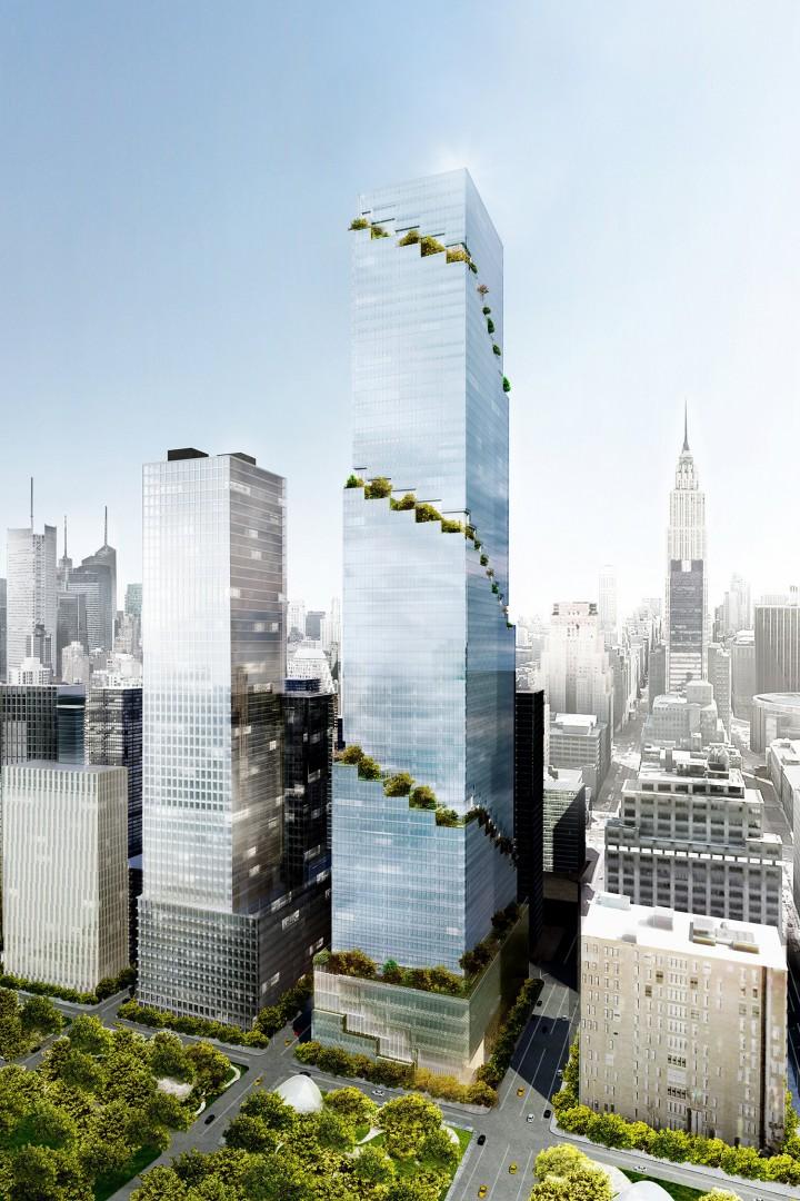 Il primo grattacielo a spirale sar a new york for Appartamento grattacielo new york