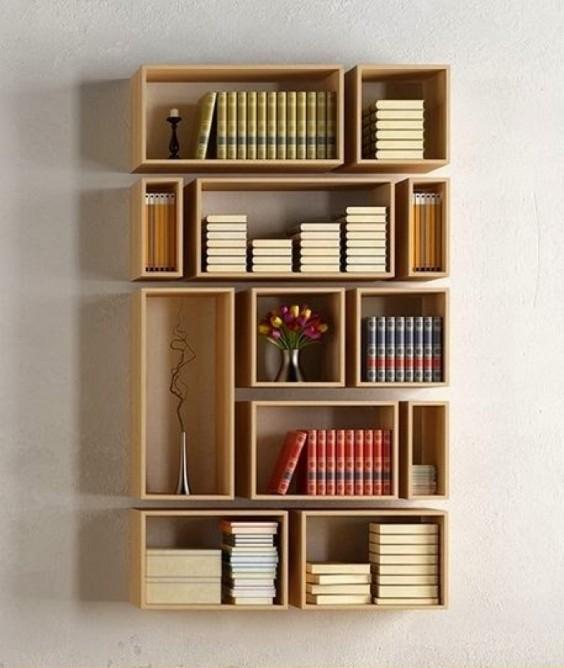 libreria scatole