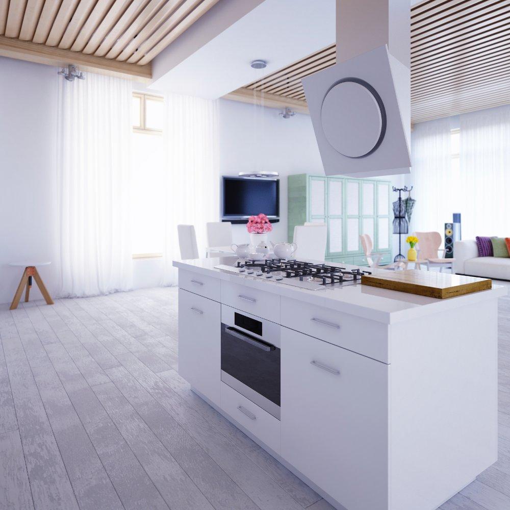 Le nuove tendenze d 39 arredamento per la cucina - Cucine con isola piccoli spazi ...