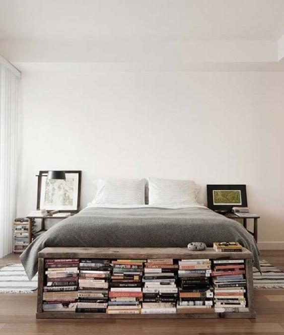 libreria fondo letto