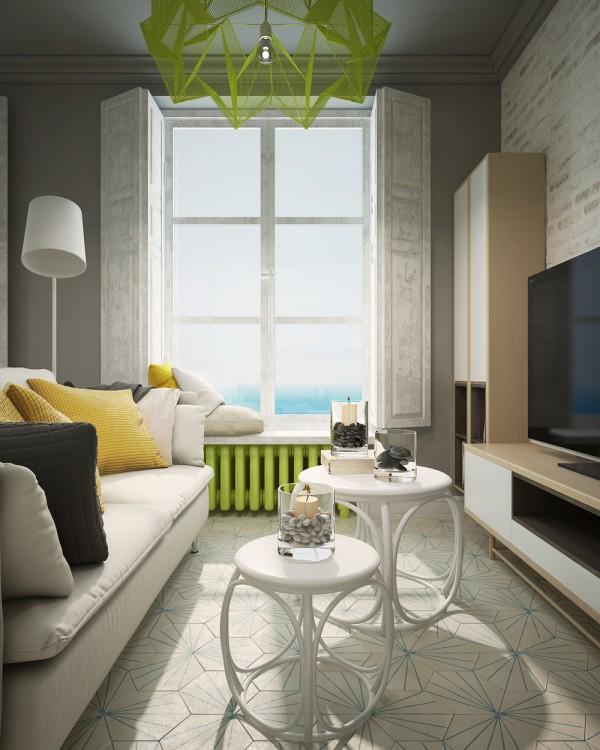 Un vivace monolocale di 28 mq for Design interni appartamenti