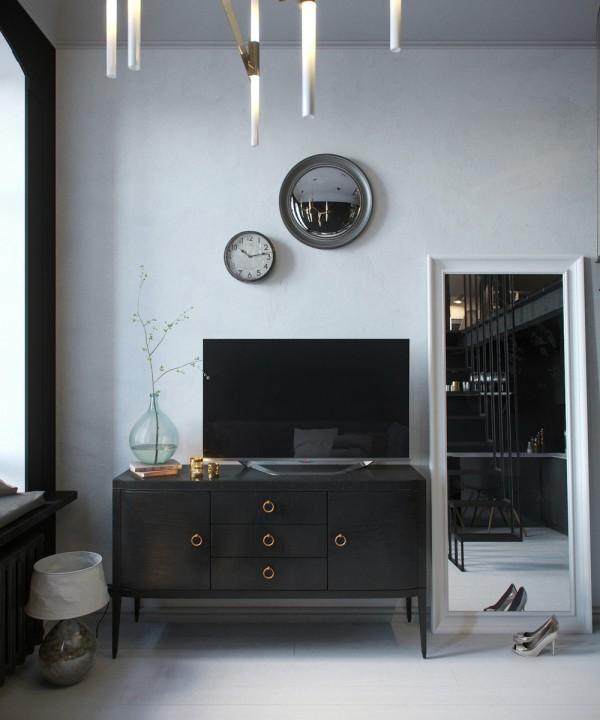 Atmosfera intima ed elegante in un loft con soppalco di 24 for Garage con il costo dell appartamento loft