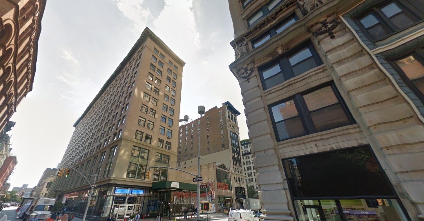 Silk Building 14 East 4th Street, New York, NY, 10012 / Google Maps