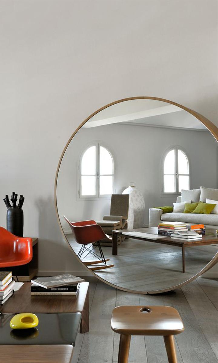 arredare casa con gli specchi. Black Bedroom Furniture Sets. Home Design Ideas