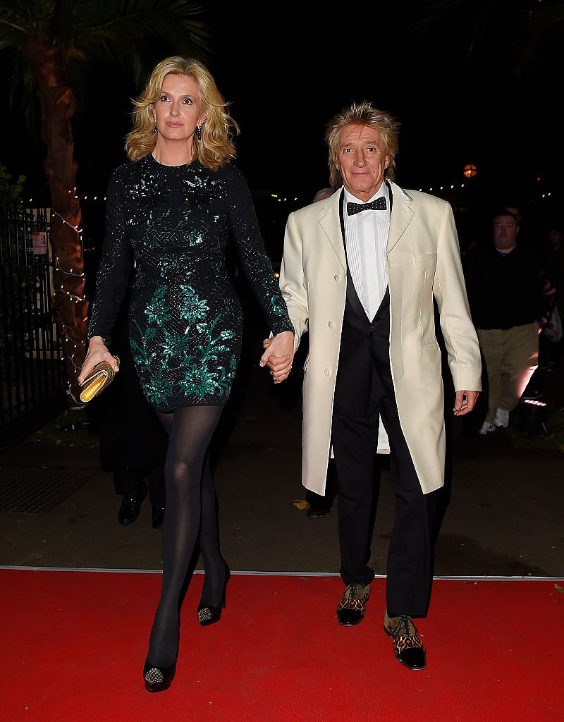 Liz Penny Lancaster Stewart and Rod Stewart (Photo by Keith Hewitt/FilmMagic)