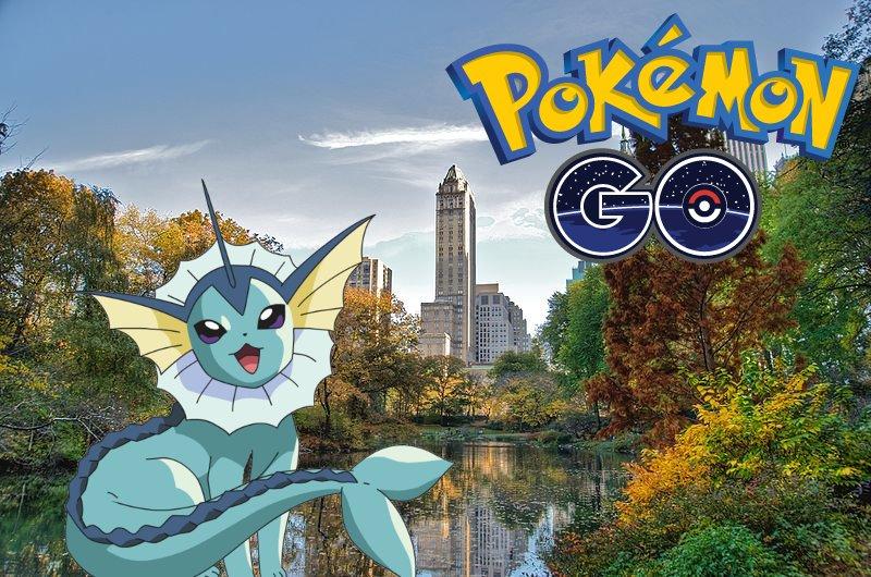 Il raro Pokemon Vaporeon avvistato a Central Park