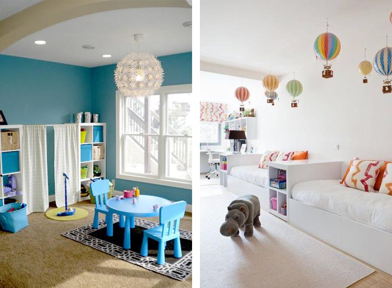 Idee creative per la camera dei bambini - Decorazione parete cameretta ...