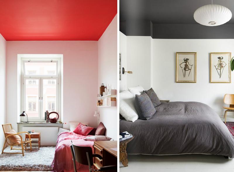 Soffitto colorato 14 bellissime idee - Colorare camera da letto ...