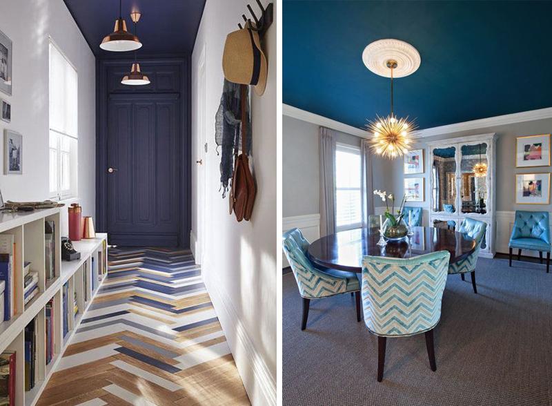 Soffitto colorato 14 bellissime idee for Idee per verniciare camera da letto