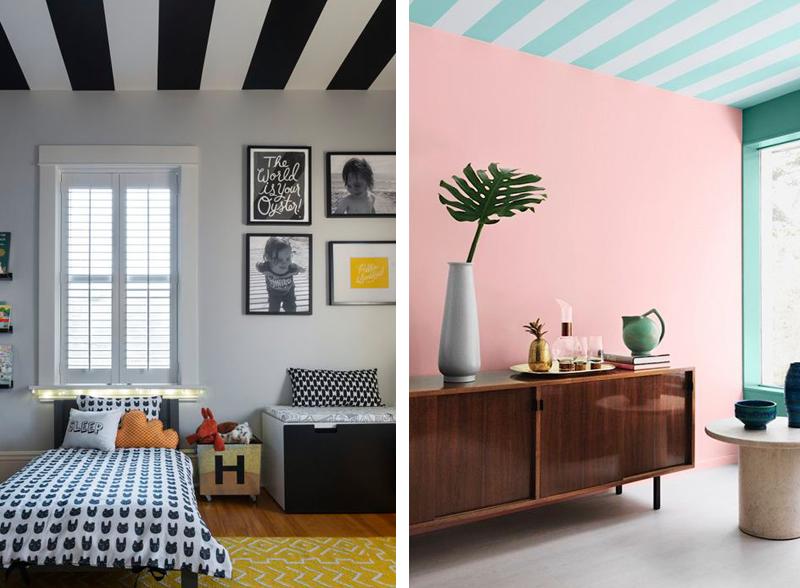 Soffitto colorato 14 bellissime idee - App per colorare pareti casa ...