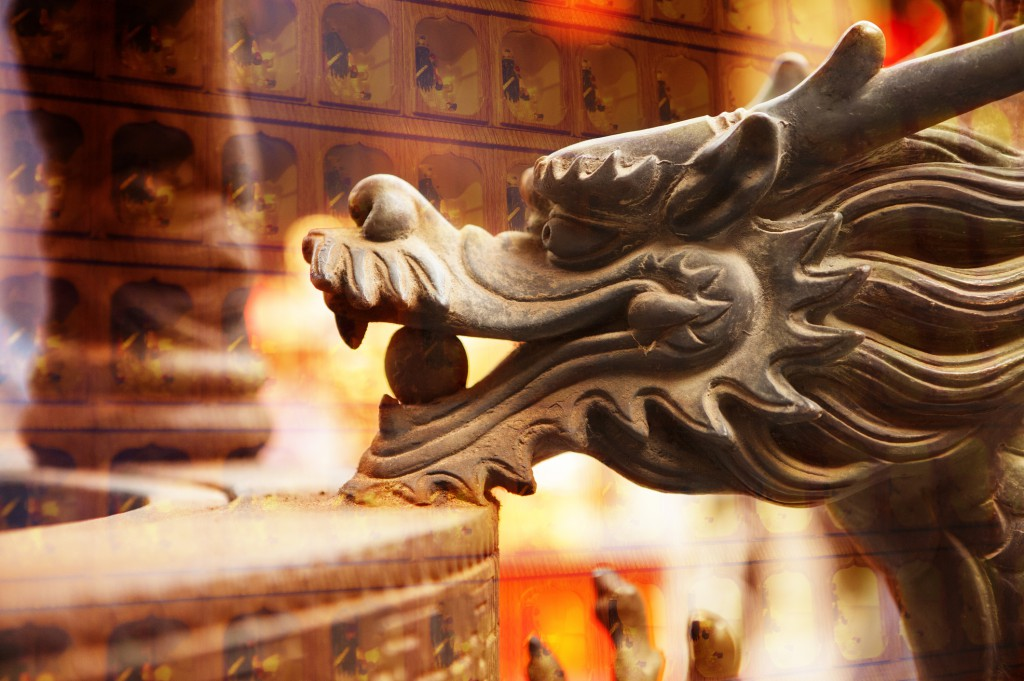 Religion, Temple, Dragon head,