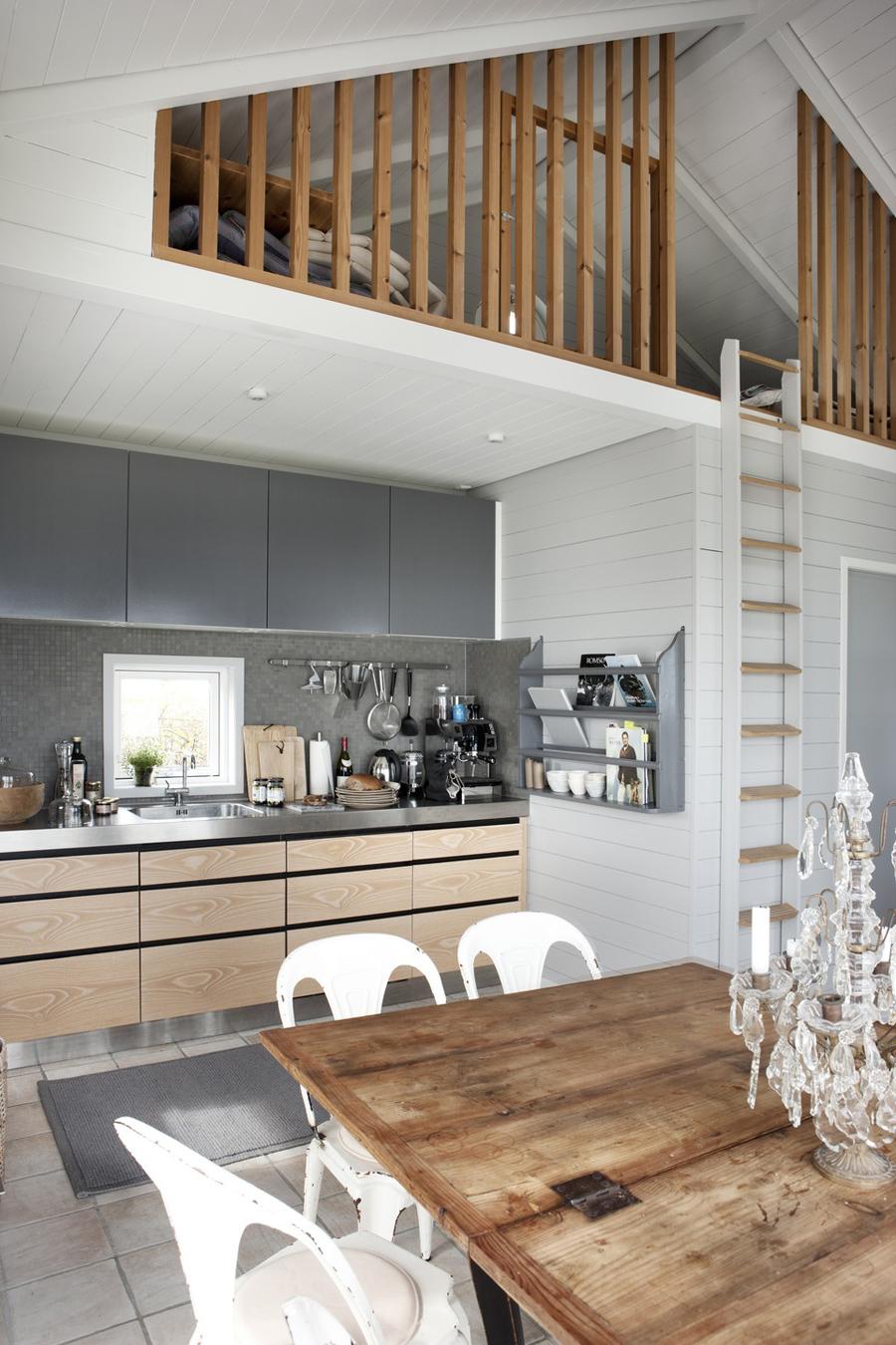 15 bellissime idee per il soppalco - Cucina con soppalco ...