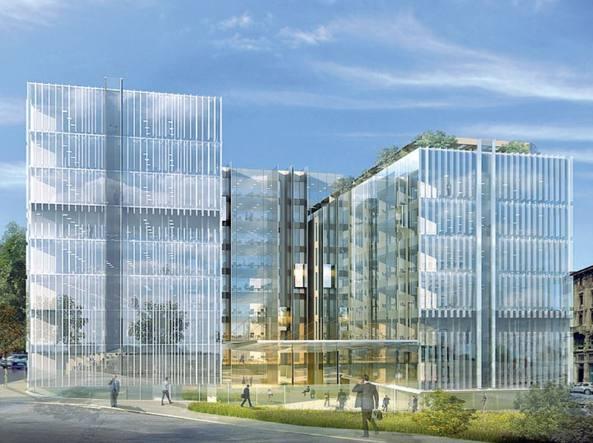 A milano la nuova e prestigiosa sede di amazon for Piani dell edificio per la colazione