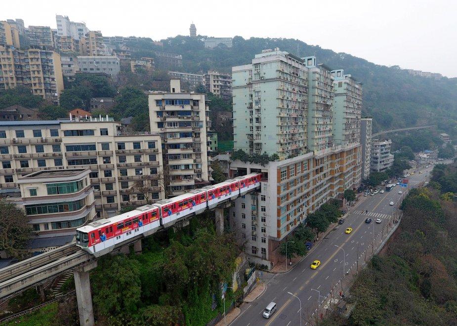 Cina la metropolitana che attraversa il condominio - Piano casa in condominio ...