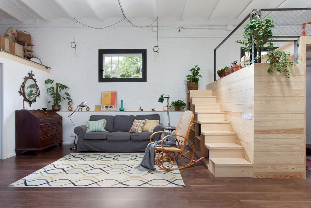 Un garage di 60 mq trasformato in un loft for Progetto di casa loft