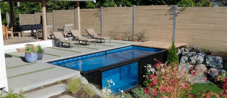 Se il vostro sogno una piscina un container la soluzione - Casa container prezzo ...