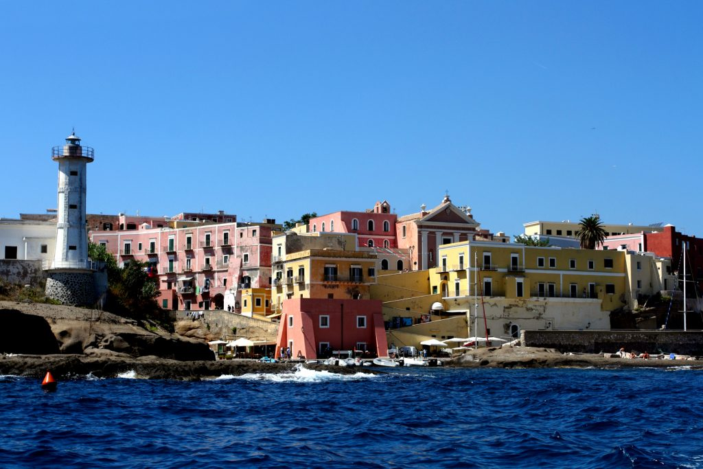 Ventotene Island seen from the sea