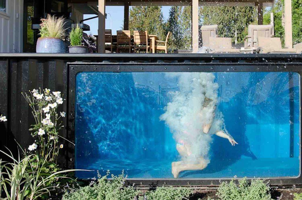 Se il vostro sogno una piscina un container la - Casa container prezzo ...