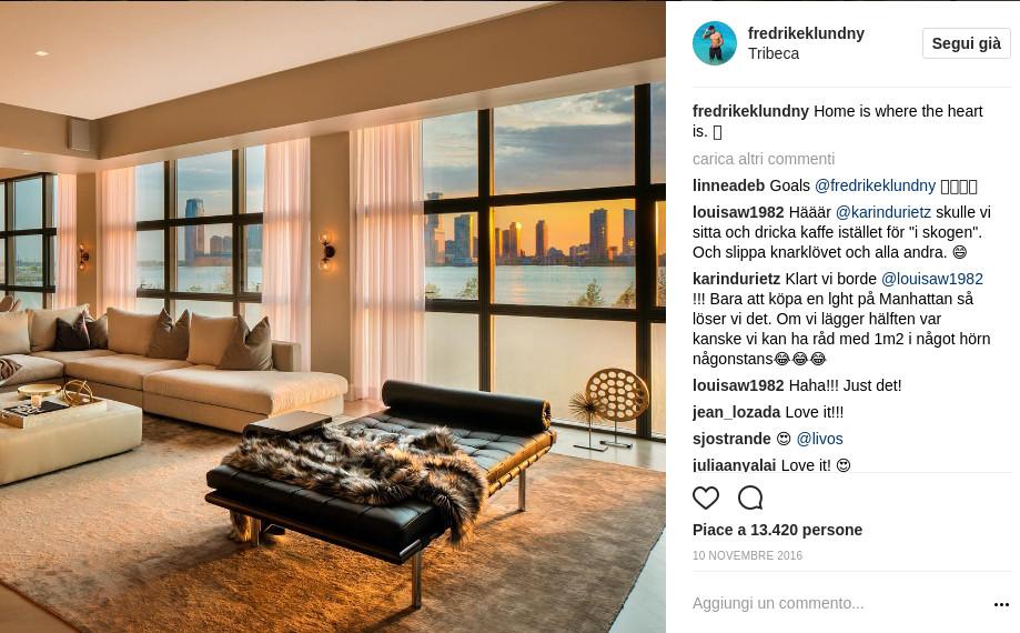 Fredrik Eklund vive a Tribeca in un appartamento da sogno da milioni di dollari