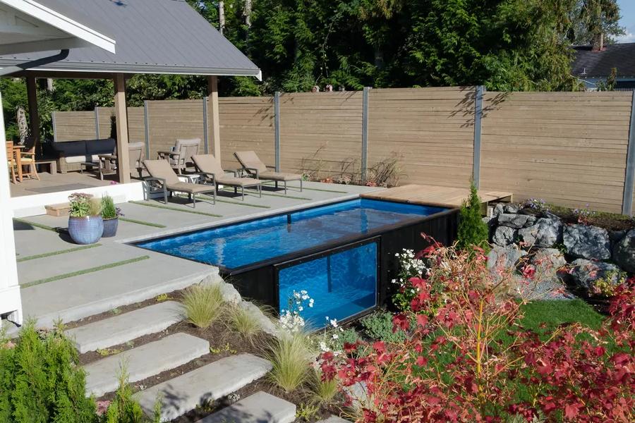 Se il vostro sogno una piscina un container la for Comprare piscina fuori terra