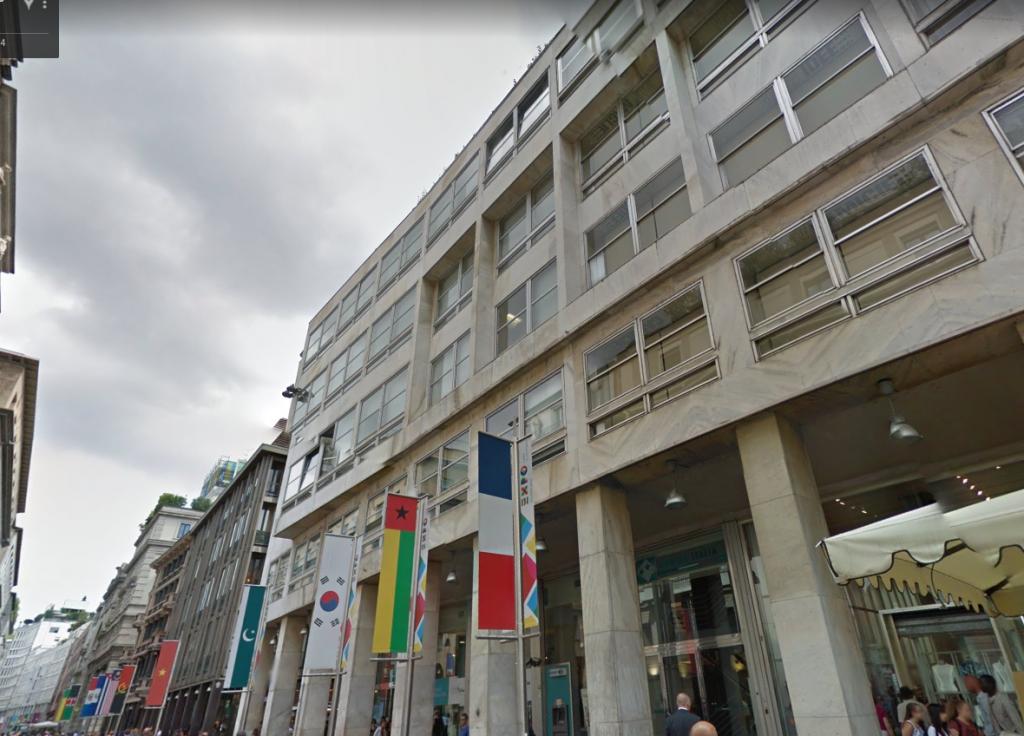 Corso Vittorio Emanuele II, Milano - Palazzo Banca Carige. Fonte: Google Maps