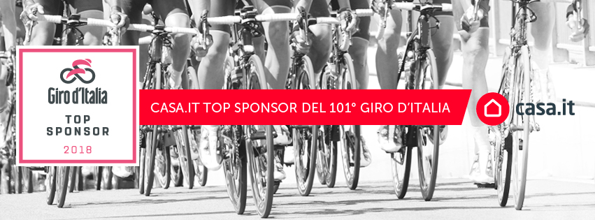Casa.it Top Sponsor del Giro d'Italia