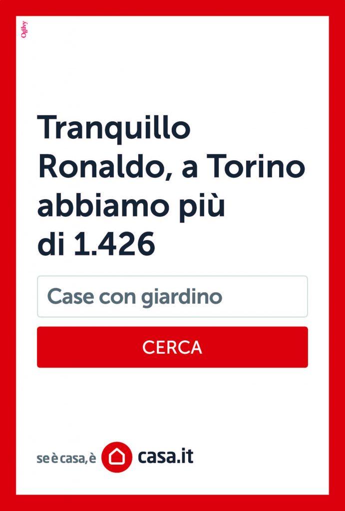 Tranquillo Ronaldo, a Torino abbiamo più di 1.426 case con giardino