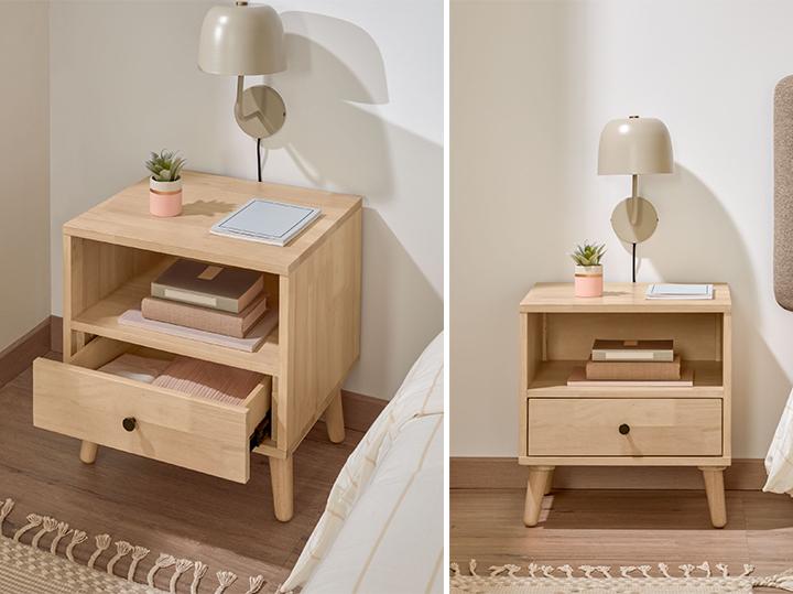 camera da letto in stile scandinavo
