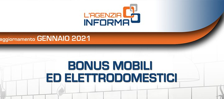 guida bonus mobili ed elettrodomestici 2021
